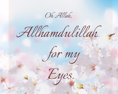 Did you thank Allah for your eyesight ?