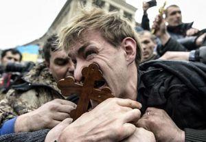 KIEV UKRAINE REMONTEE DU FASCISME