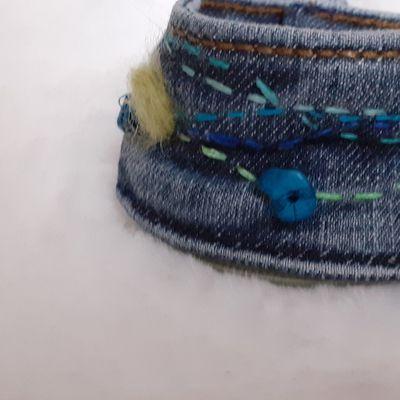 bracelet manchette en jean
