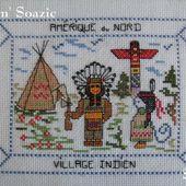 Carte brodée : les Indiens d'Amérique du Nord - Chez Mamigoz