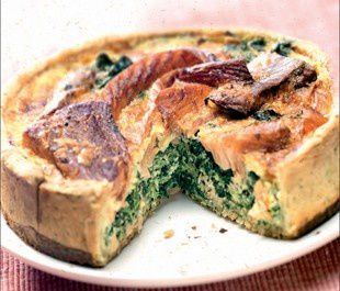 Quiche saumon epinards (Salmon and spinach pie)