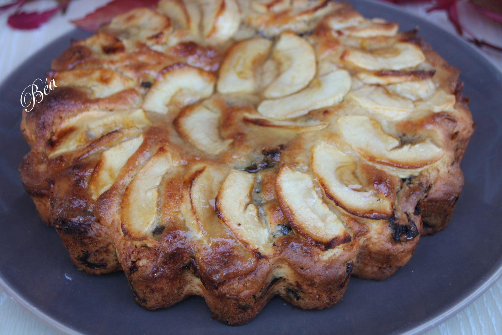 Gâteau pommes pruneaux