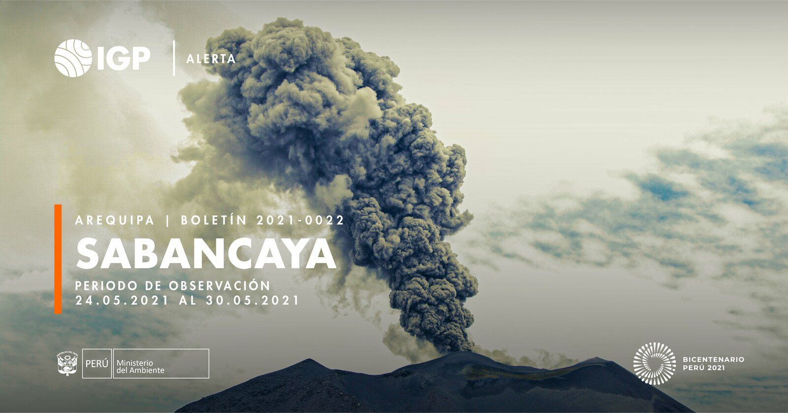 Sabancaya - activity of the week from 24 to 30.05.2021 - Doc. I.G. Peru