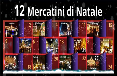 Infografica sui mercatini di Natale in Europa