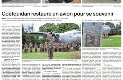 Le Noratlas de Coëtquidan trône fièrement sur le site de l'Académie militaire
