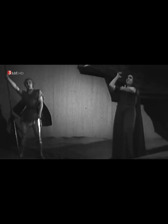 """Final de la Walkyrie version Tietjen, répétition avec Tietjen et Winifred et en répétition la fin de la 2è scène du Prologue du """"Crépuscule""""."""