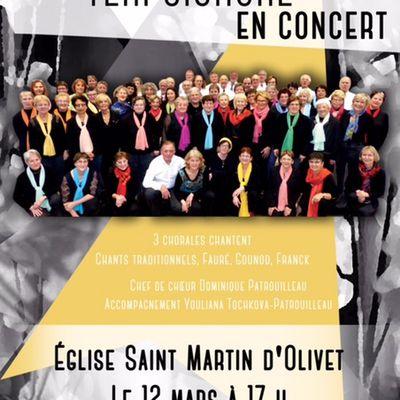 Concert choeur mixte TERPSICHORE