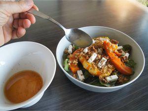Salade d'épeautre et courges rôties