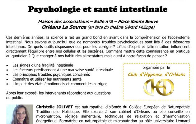 Conférence Psychologie et santé intestinale