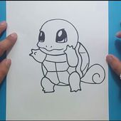 Como dibujar a Squirtle paso a paso - Pokemon | How to draw Squirtle - Pokemon