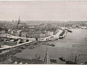 Suède : Le Général-Chanzy en rade de Stockholm ; Stockholm