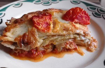Lasagnes thon aubergines ,( Cyril Lignac )