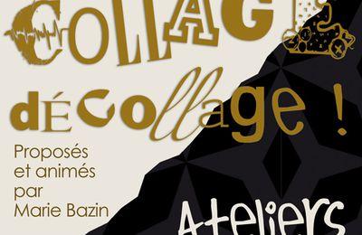 ATELIER COLLAGE au Centre culturel de Brive-La-Gaillarde,  pour les enfants !
