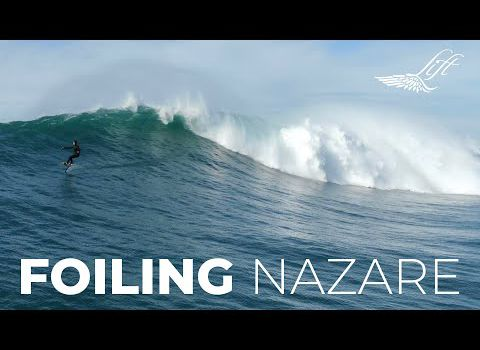 Surf Foiling in Nazare