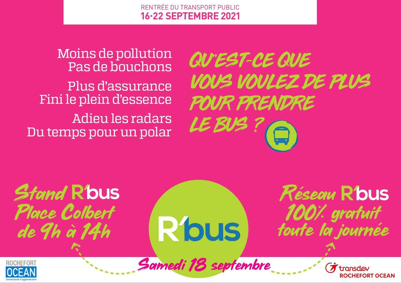 R'BUS - RENTREE DU TRANSPORT PUBLIC 16 AU 22/09/2021