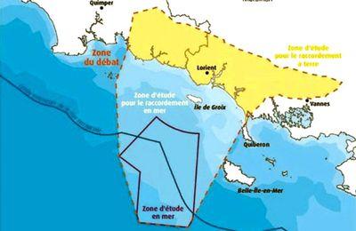 A propos du parc d'éoliennes flottantes en Bretagne sud