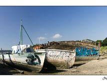 35 - Quelmer - Anse de Saint-Elier - Cimetière de bateaux