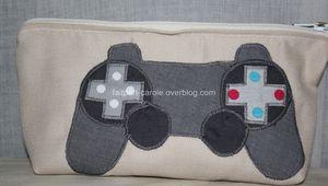 Trousse tissu jeux vidéo