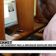 En RDC : la brusque envolée des prix d'internet passe mal