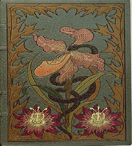 Page de couverture de la première édition des Fleurs du Mal (1857), réalisée par Auguste Poulet-Malassis et Eugène de Broise