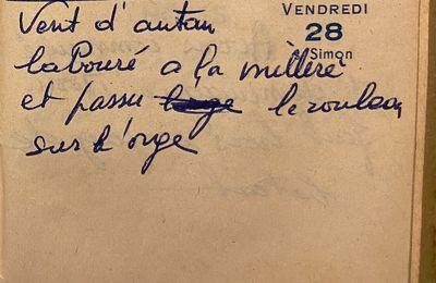 Vendredi 28 octobre 1960 -rouler l'orge