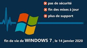 "Fin de Windows 7 - Désinstaller la KB4493132 intitulée ""Windows 7 SP1 support notification"""