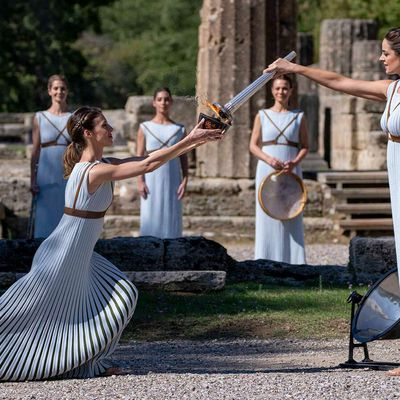 SPORT: Olympic flame lit in Ancient Olympia today to start Bejijng 2022