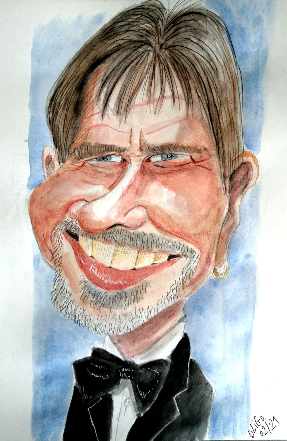 Caricature d'Harrison Ford :