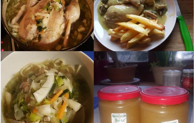 Poule au pot, vol au vent, chicken soup et bouillon de volaille...