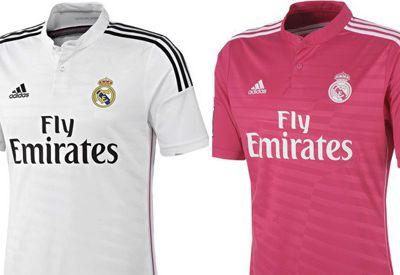 Real Madrid nuevas camisetas para la temporada 2014-15: blanco y rosa camisetas
