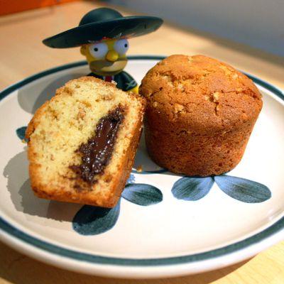 Muffins Chocolat-nougatine