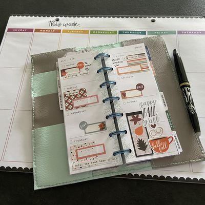 Plan with Me: Mini Skinny happy planner_ Semaine 36