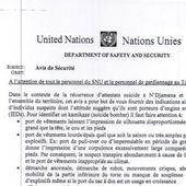 L'ONU indique à ses employés au Tchad comment identifier un kamikaze