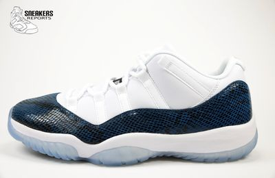 Nike Air Jordan XI Low  rétro Navy Snakeskin