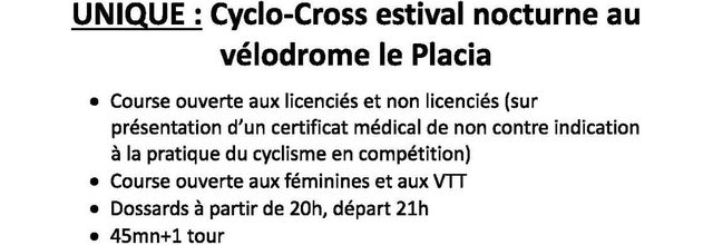 Cyclocross by night , nouvelle date