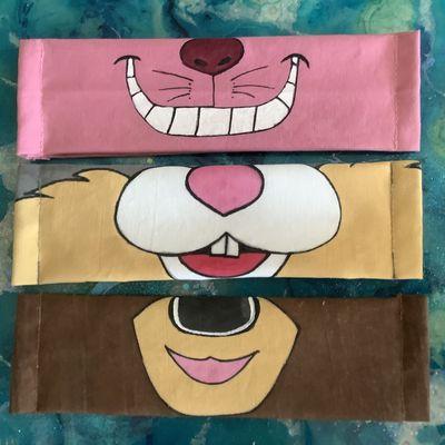 Masques alternatif lavable : Le chat du Cheshire, Bambi et Panpan