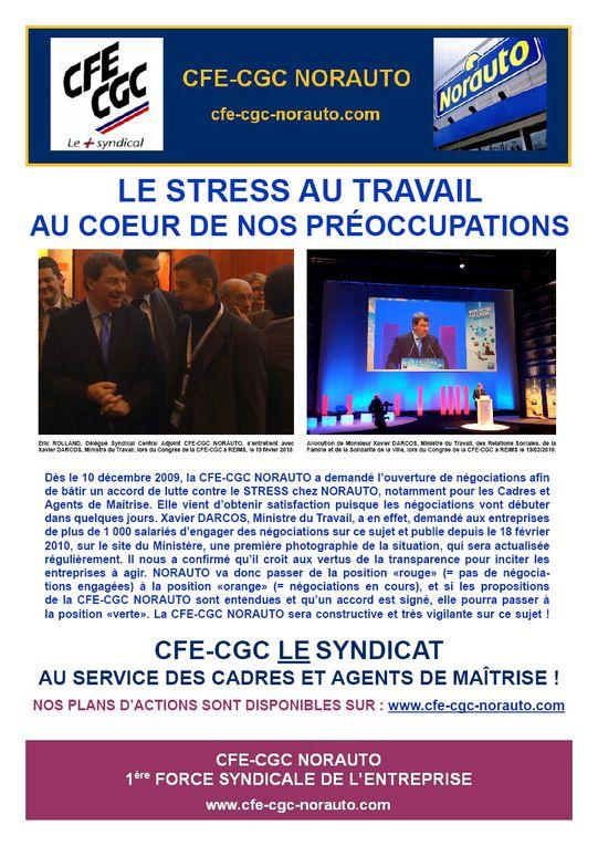 Eric ROLLAND Délégué Syndical Central Adjoint CFE-CGC NORAUTO a pu rencontrer Xavier DARCOS, Ministre du Travail, le 19 février 2010 au Congrès de la CFE-CGC à REIMS. Les problématiques du handicap et du stress au travail ont été abordées.