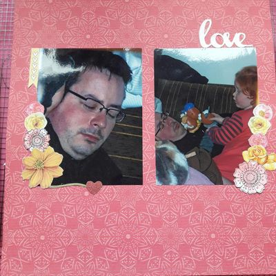 "Page scrapbooking ""love"""