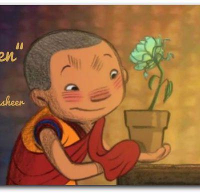 Le petit moine et la fleur