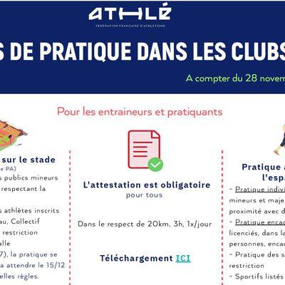 01/12/2020 : Reprise de l'athlétisme pour notre section Cou Athlé