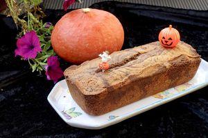 Marbré chocolat/orange pour Halloween