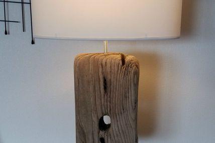 """Lampe en bois flotté """"magique"""" !!!"""