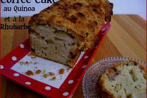 Coffee cake au quinoa et à la rhubarbe