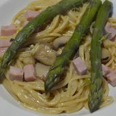 Recette weight watchers au cookeo : spaghettis aux asperges 9 PP |