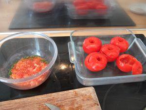Tomates crues farcies au thon (de la Belle Iloise)