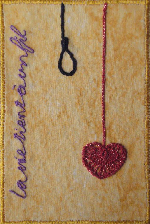 Album - Cartes postales textiles