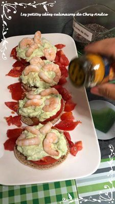 Avocados toasts aux crevettes