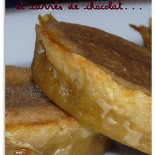 Tartelette aux carrés de chocolat et crème de marron