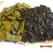 Filet de perche aux olives noires - www.sucreetepices.com