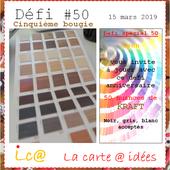 Défi#50-Cinquième bougie - la.carte.à.idées